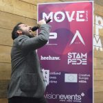 Our host Erik Ravaglia at Move Summit