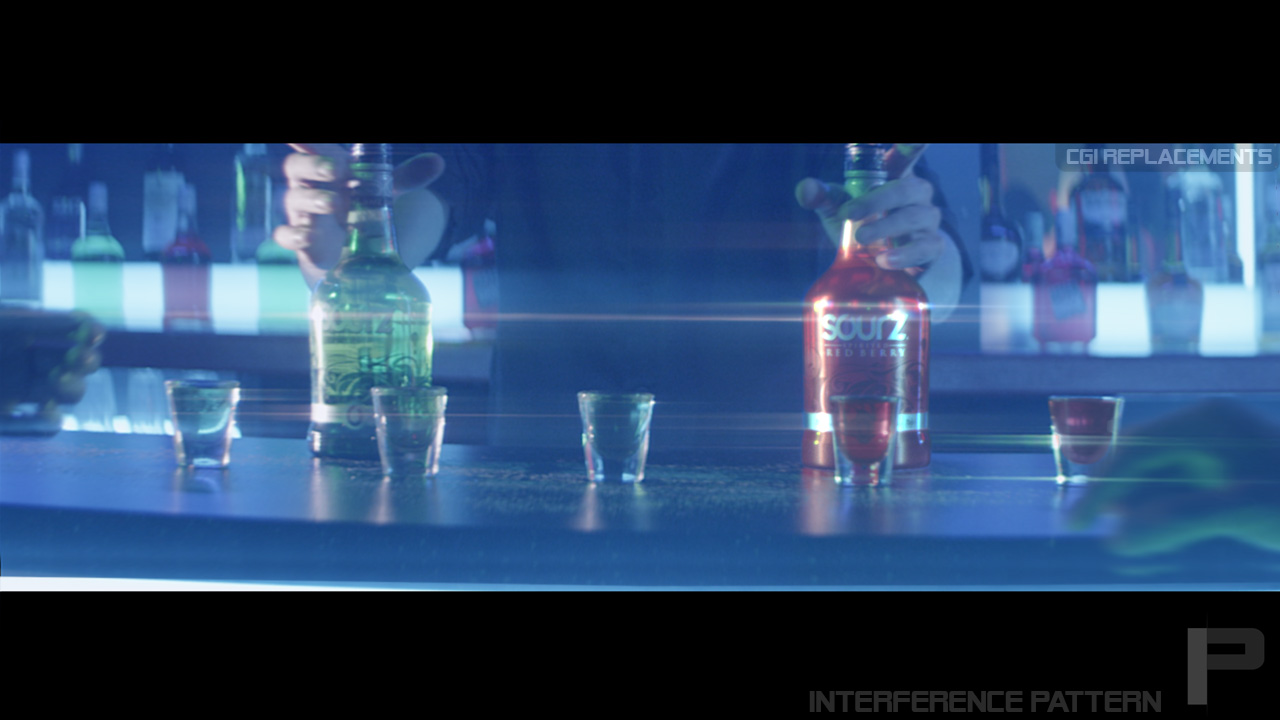 "CGI bottle replacement for Sourz ""This is Our Shot"" commercial in the Netherlands."
